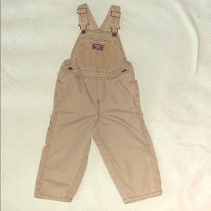 Tan toddler overalls
